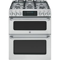 CGS990SETSS GE Cafe Series 30 Inch 6.7 cu. ft. Double Oven Gas Range - Stainless Steel