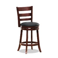 Cherry Brown 24 Inch Swivel Counter Height Stool - Harper