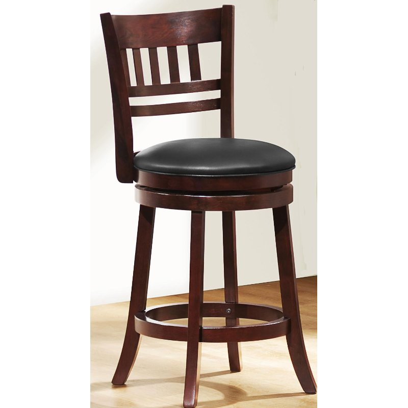 Cherry 24 Inch Counter Height Stool Arts And Crafts Rc Willey Furniture