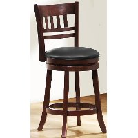 Dark Cherry 29 Inch Swivel Bar Stool - Arts and Crafts