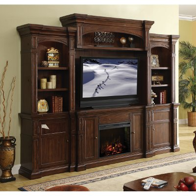 Berkshire Fireplace Entertainment Center | RC Willey Furniture Store