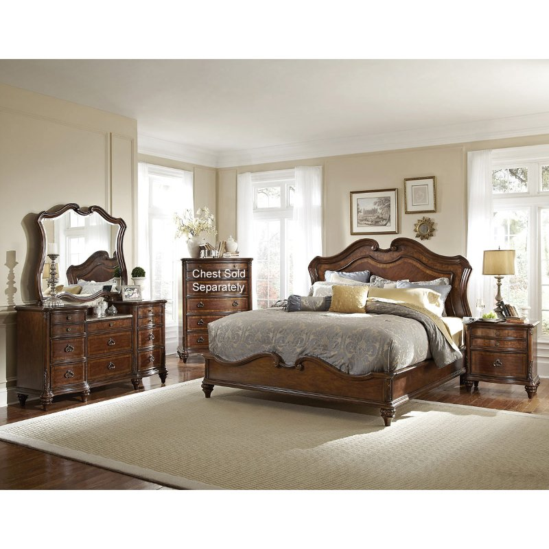 cal king bedroom sets marisol brown 6 cal king bedroom set 14682