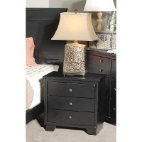 Black Casual Contemporary Nightstand - Diego