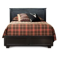 Black Casual Contemporary Queen Size Bed - Diego