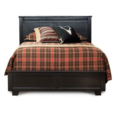 Casual Contemporary Black California King Bed - Diego