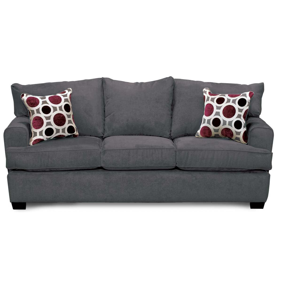 casual sterling gray sofa city