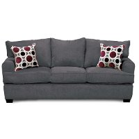 City Sterling Grey Upholstered Casual Sofa