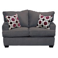 Casual Contemporary Sterling Gray Loveseat - City