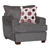 Casual Contemporary Sterling Gray Chair - City