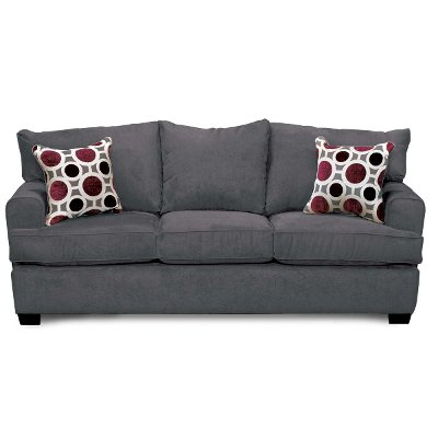 Captivating Casual Contemporary Sterling Gray Sofa Bed   City
