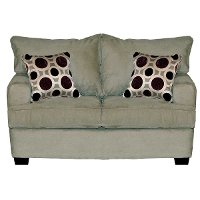 Casual Contemporary Stone Loveseat - City