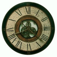 32 Inch Antique Brass Metal Gear Wall Clock Rc Willey