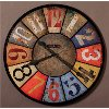 County Line Multi-Colored Wall Clock