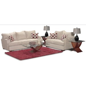 ... Stone Upholstered Casual Contemporary 7 Piece Room Group   City