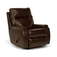 Dark Truffle Brown Leather Manual Rocker Recliner - Runway