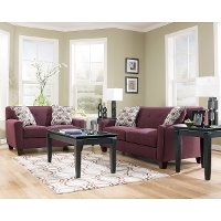 Eggplant Upholstered Sofa And Loveseat Rc Willey