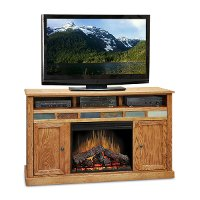 62 Inch Oak Fireplace and TV Stand - Oak Creek