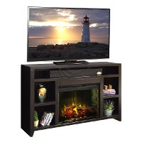 62 Inch Mocha Brown Media Fireplace - Urban Loft