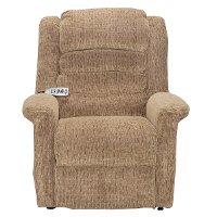 Brown Power Reclining Lift Chair with Heat and Massage - Soother