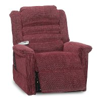 Vino Burgundy Power Reclining Lift Chair - Soother