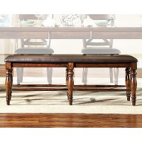 Mango and Brown Traditional Dining Bench - Kingston