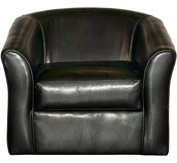 ... 89SANMARINOEBONY Ebony Black Modern Swivel Accent Chair   San Marino