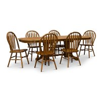 Oak 7 Piece Dining Set - Country Classic Chestnut Collection