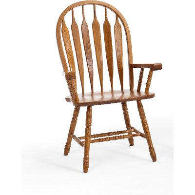 Oak Dining Room Arm Chair - Classic Chestnut
