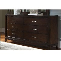 Contemporary Brown Dresser - Avalon