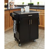 Cuisine Cart Black Finish Stainless Top - Create-a-Cart