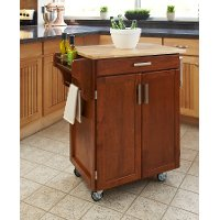 Cuisine Cart Warm Oak Finish with Wood Top - Create-a-Cart