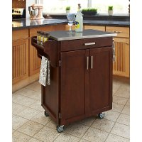 Cuisine Cart Cherry Finish Stainless Top - Create-a-Cart
