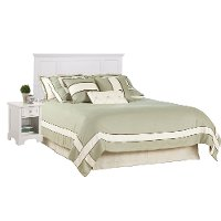 White Queen 2 Piece Bedroom Set - Naples