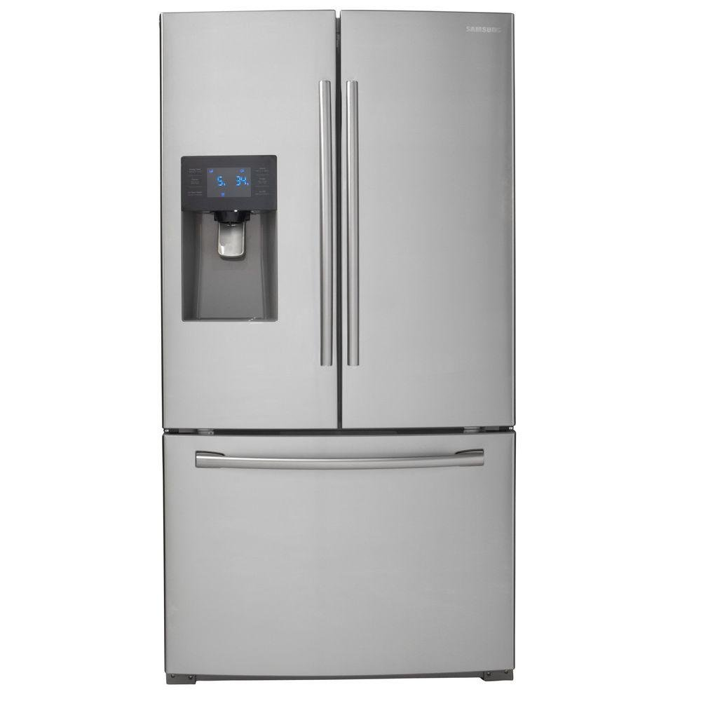 Samsung French Door Refrigerator With Led Lighting 36 Inch Cool Cold Ice2 Cooling Pad 156 Stainless Steel Rc Willey Furniture Store
