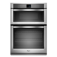 WOC54EC0AS Whirlpool Double Wall Oven with Microwave - 6.4 cu. ft. Stainless Steel