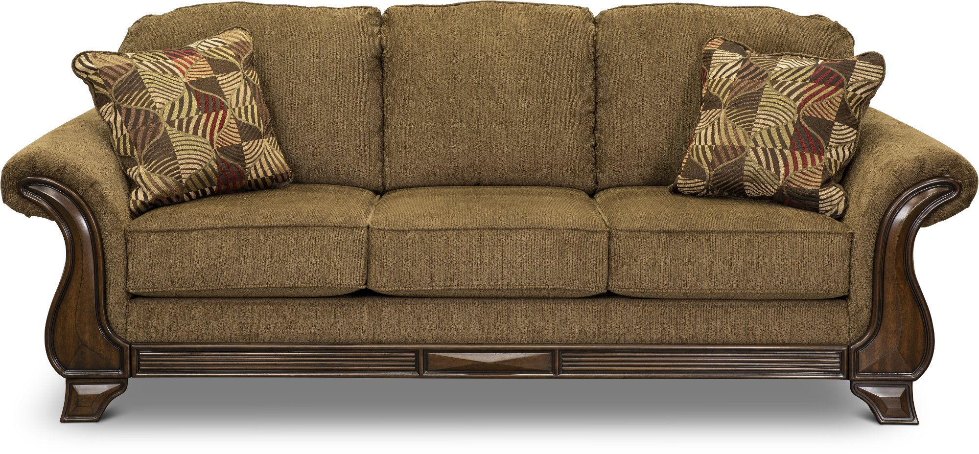 Casual Traditional Mocha Brown Sofa Loveseat Montgomery Rc Willey Furniture Store