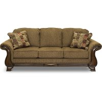 Casual Traditional Mocha Brown Sofa - Montgomery