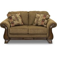 Casual Traditional Mocha Brown Loveseat - Montgomery