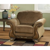 Casual Traditional Mocha Brown Chair - Montgomery