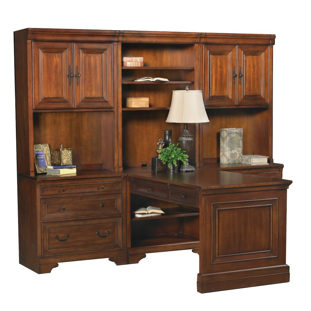 7 Piece Home Office Computer Desk With Hutch Richmond Rc Willey Furniture