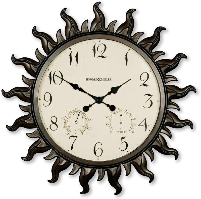 Sunburst Indoor Outdoor Wall Clock