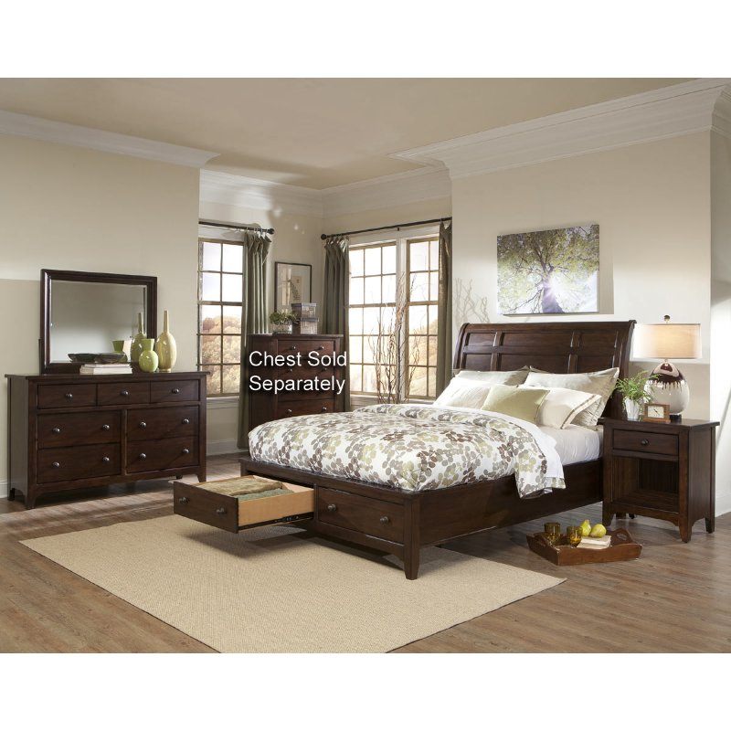 cal king bedroom sets intercon 6 cal king bedroom set 14682
