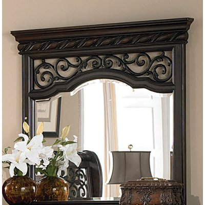 Traditional Brown Mirror - Arbor Place
