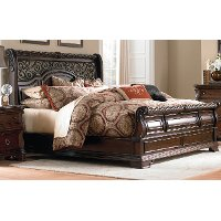 Traditional Brown Queen Bed - Arbor Place