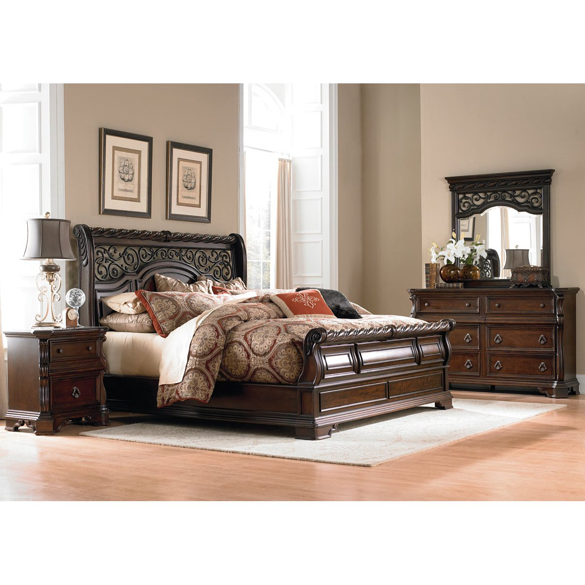 ... Brownstone 6 Piece King Bedroom Set   Arbor Place ...