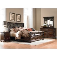 Traditional Brown 4 Piece King Bedroom Set - Arbor Place