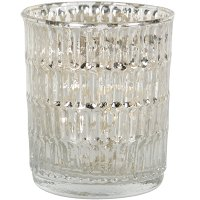 Small Mercury Glass Votive Candle Holder