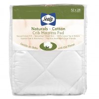 ED003-QCX Naturals-Cotton Fitted Crib Mattress Pad - Sealy