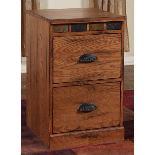 Clearance Brown 2 Drawer Wood File Cabinet