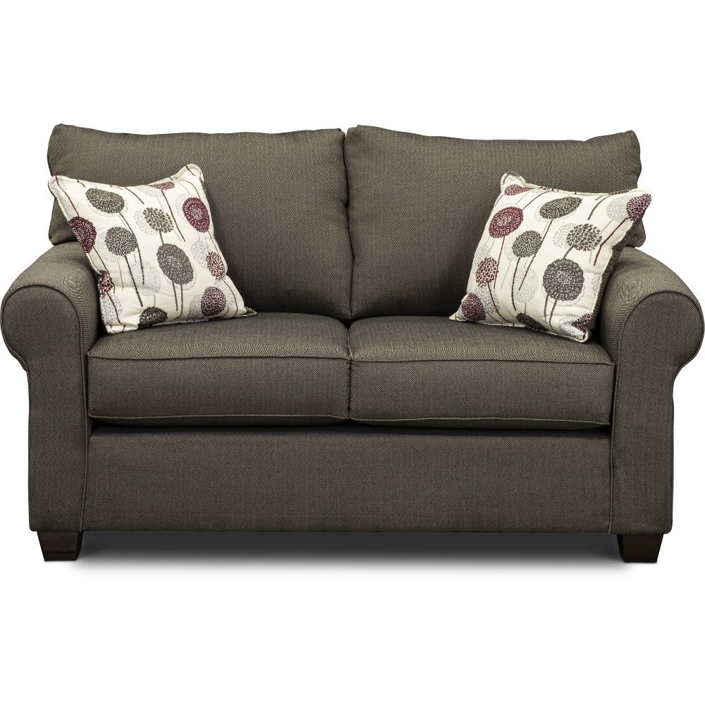 ... Casual Contemporary Slate Gray Loveseat   Seaside